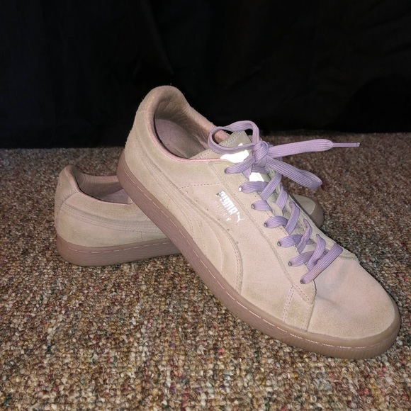 Purple Puma shoes